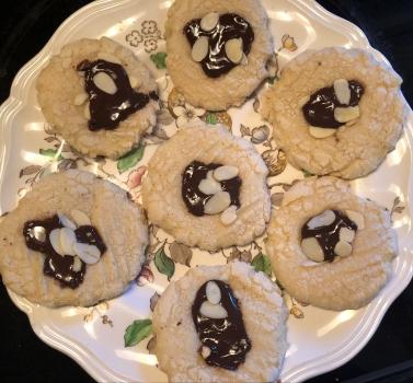 Dark Chocolate Almond Sugar cookies